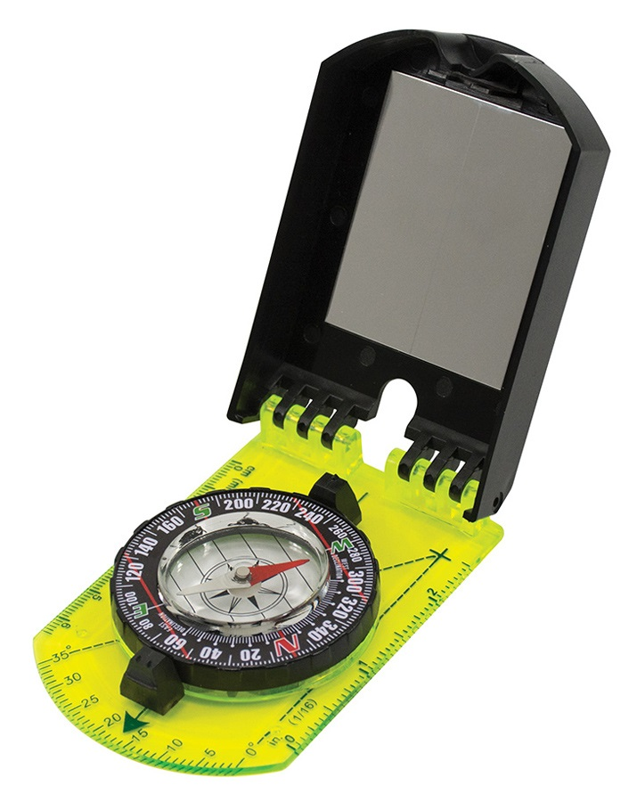 Ultimate Survival Technologies Folding Hi Vis Map Compass