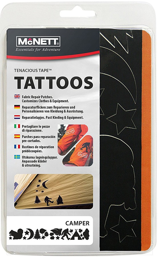 McNett Tenacious Tape Tattoos Outdoor Gear Repair Patches, Wildlife