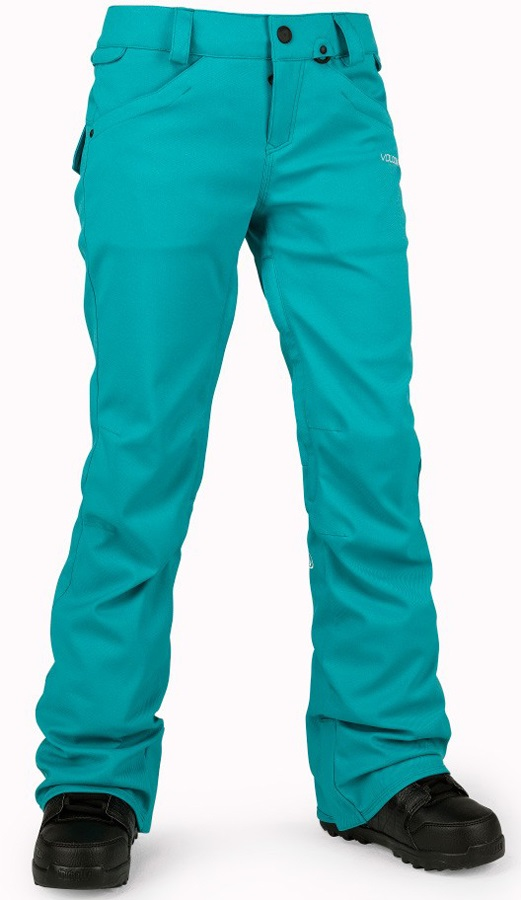 Volcom Womens Species Stretch Womens Snowboard & Ski Pants, XS Teal