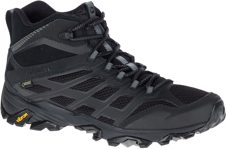 Merrell Moab FST Mid Gore-Tex Hiking Boots, UK 8 All Black