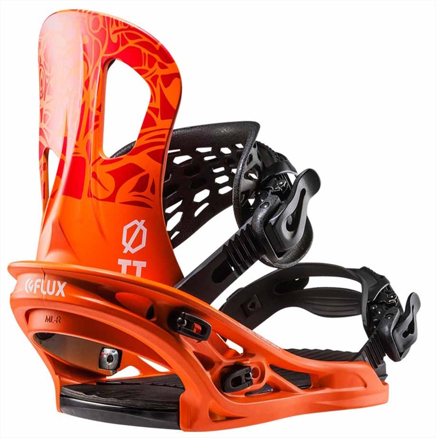 Flux Adult Unisex TT Snowboard Bindings, M Orange 2018