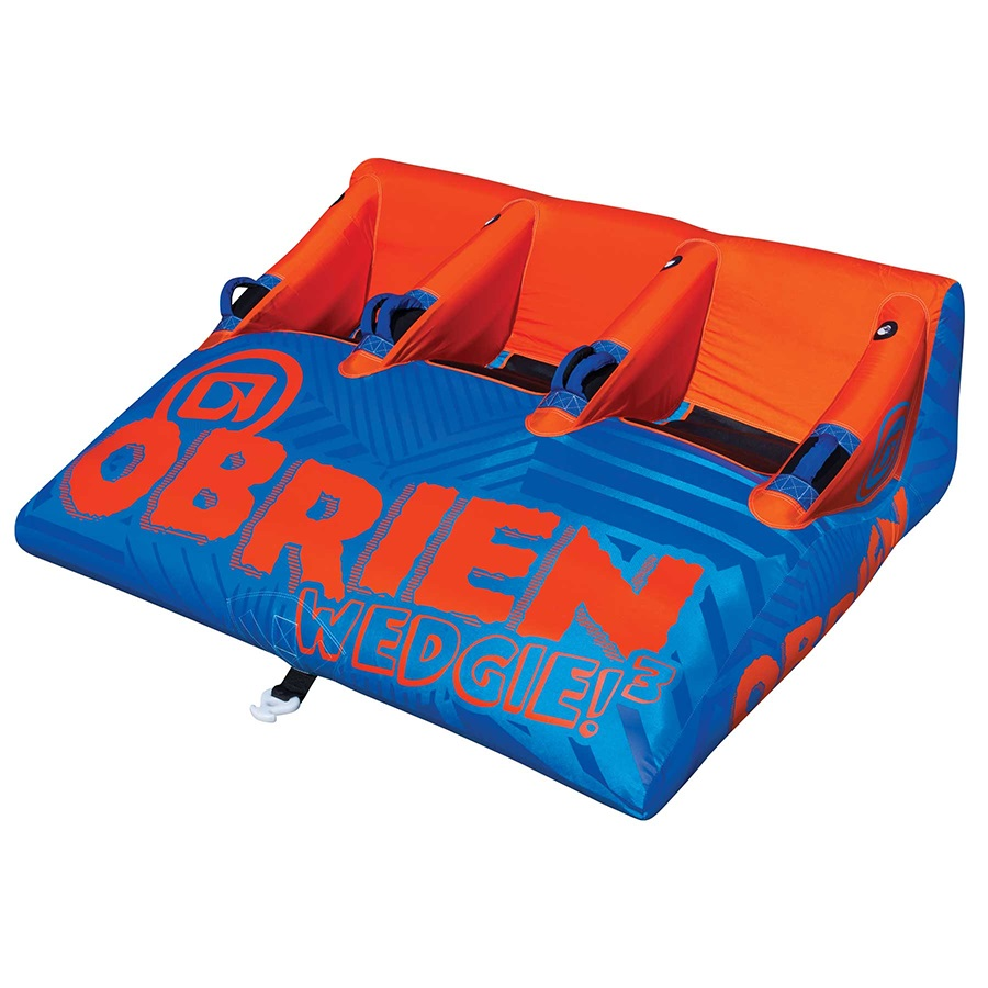 O'Brien Wedgie Seated Towable Inflatable Tube, 3 Rider Blue Orng 2018