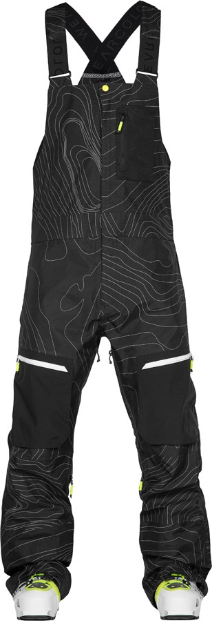 Wearcolour (CLWR) Raven Bib Ski/Snowboard Pants, L Black Elevation