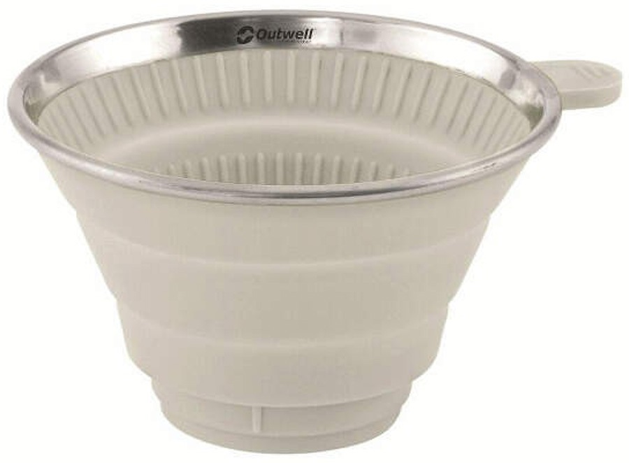 Outwell Collaps Coffee Filter Holder Collapsable Utensil, Cream White