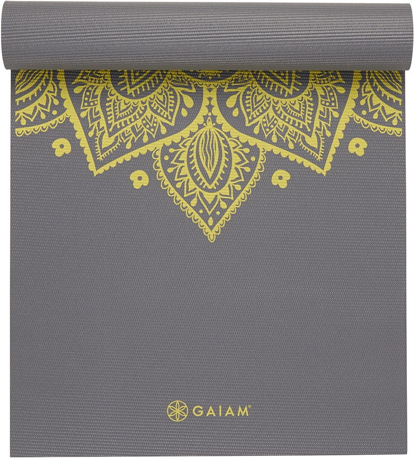 Gaiam Premium Printed Yoga Mat 6mm Citron Sundial