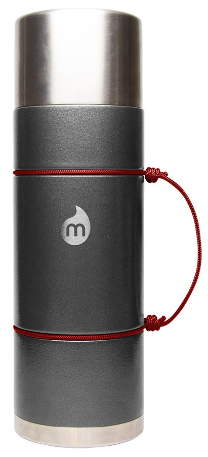 Mizu V10 Thermos Stainless Steel Flask, 1000 Ml, Grey Hammer