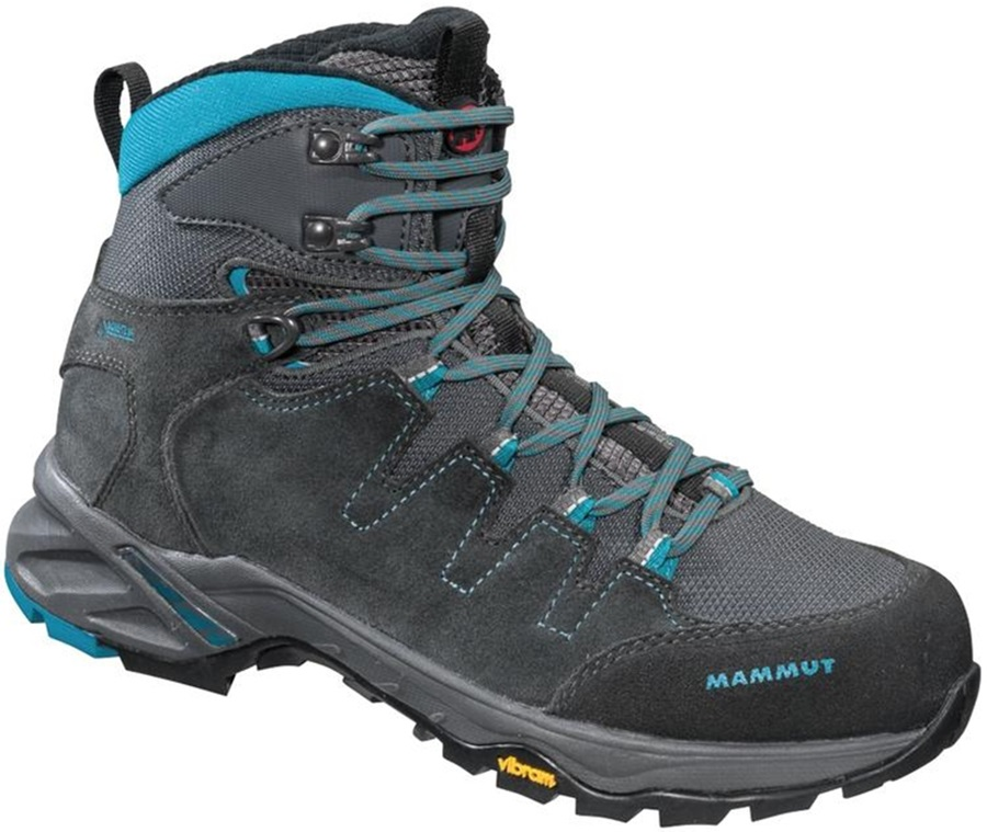 Mammut T Base High GTX Women's Hiking Boots, UK 3.5 Graphite/Pacific