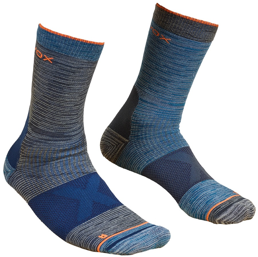 Ortovox Alpinist Mid Merino Hiking/Walking Socks, UK 8-9.5 Dark Grey