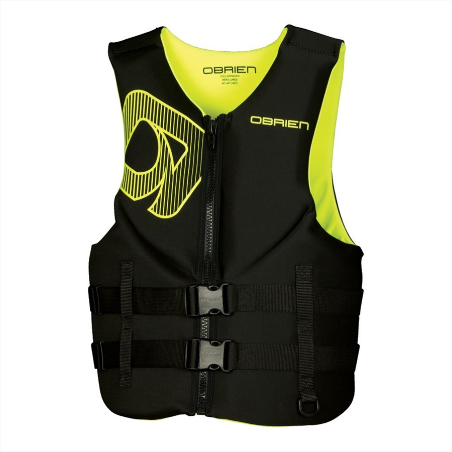 O'Brien Traditional Neo Ski Impact Vest Buoyancy Aid, XS Black Green