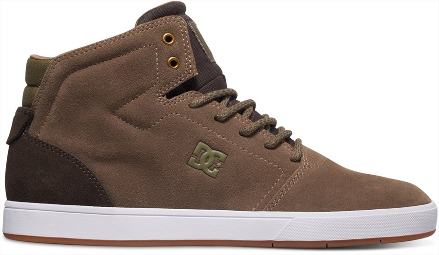 DC Crisis High Skate Shoes UK 7 Brown/DK Olive