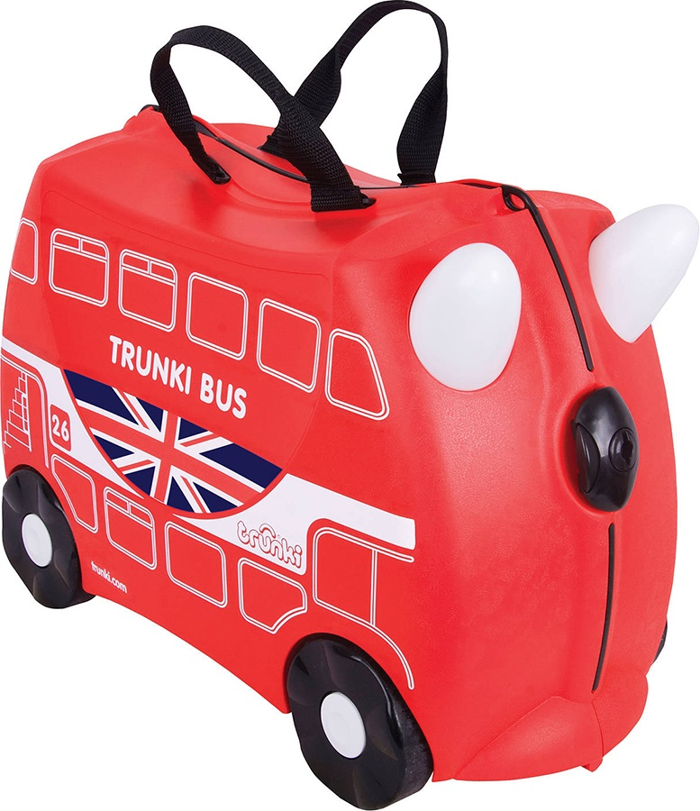 Trunki Boris The Bus Kid's Wheeled Hand Luggage, 18L Red