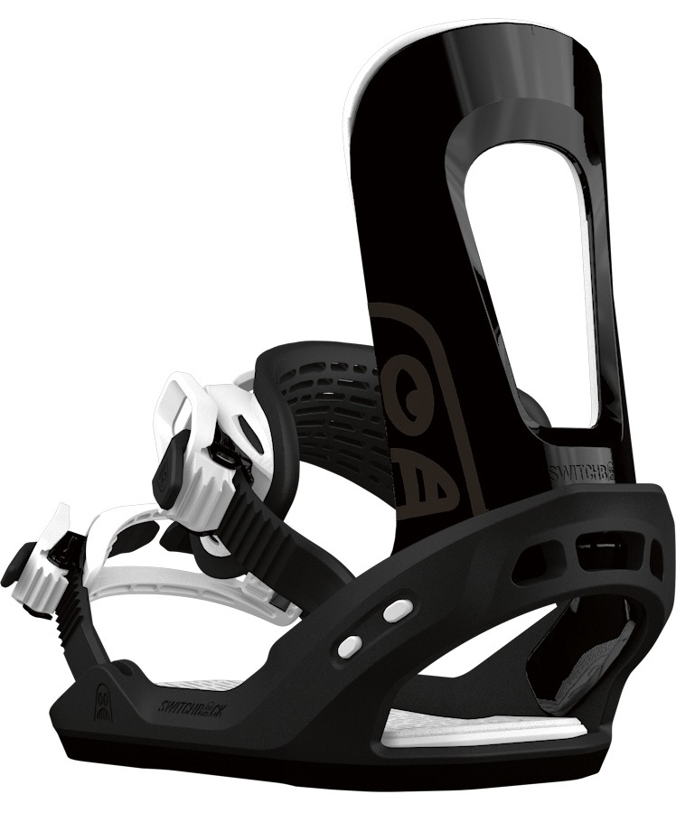 Switchback Destroyer Snowboard Binding, M Black/White 2018