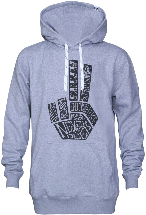 Planks Hand Of Shred Hoodie, M Sports Grey