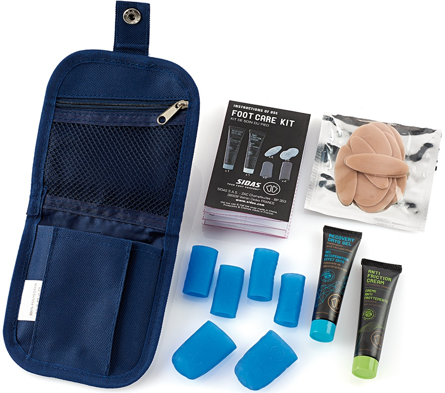 Sidas Footcare Protection/Recovery Kit, S/M Blue