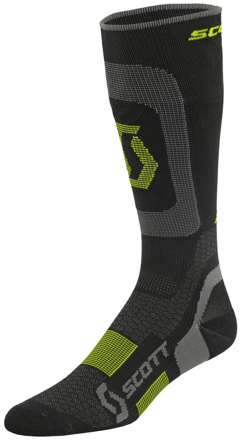 Scott Compression Socks, UK 7 - 9 BlackBlack/Neon Yellow