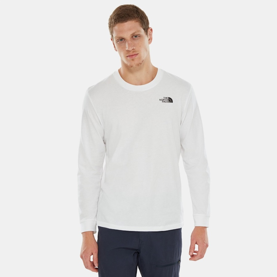 5bccd8fa The North Face Simple Dome Tee Long Sleeve T-Shirt, L TNF White