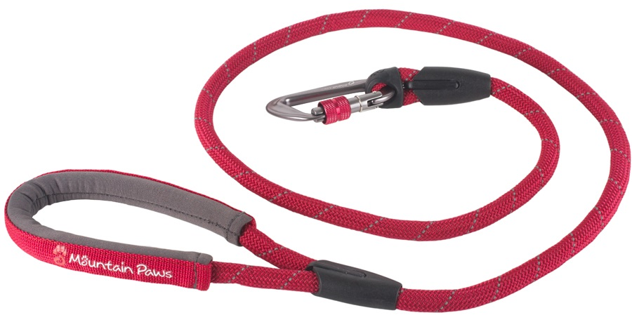 Mountain Paws Climbing Rope Dog Lead Dog Walking Leash, 1.3m Red