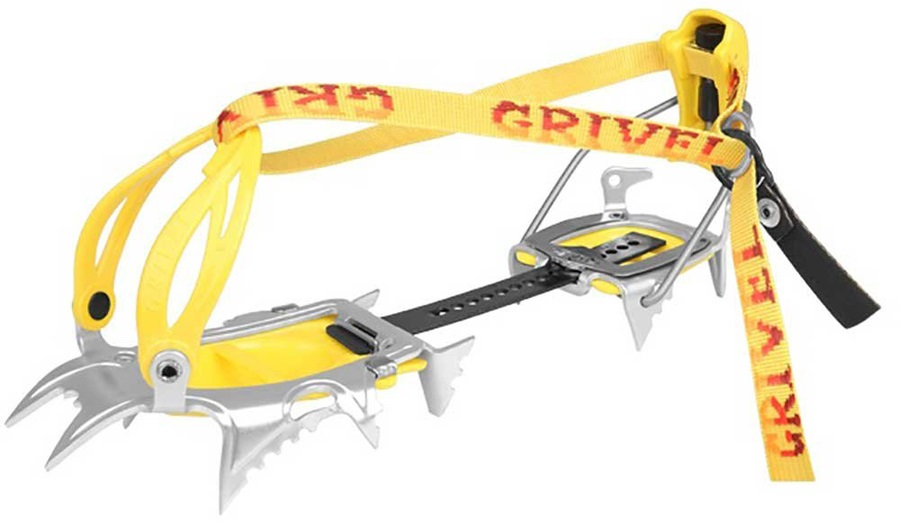 Grivel Air Tech New Matic Mountaineering Crampon UK 2.5-12.5 Yellow