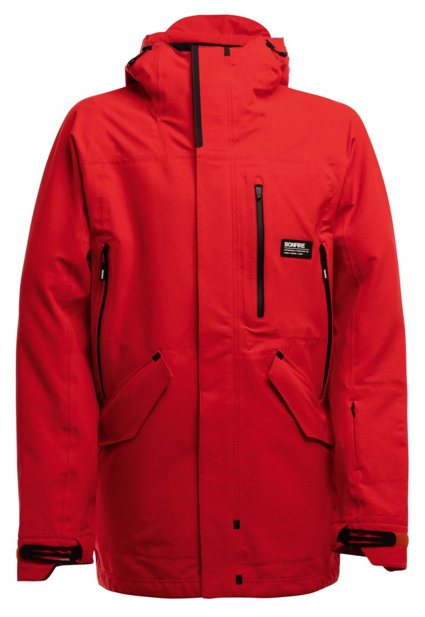 Bonfire Aspect 3L Stretch Men's Ski/Snowboard Jacket, M Red