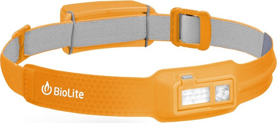 BioLite Headlamp 330 Rechargable Head Torch, 330 Lumens Sunrise Yellow