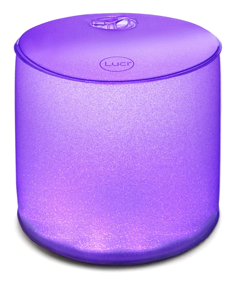 Mpowerd Luci Color Light Solar Powered Inflatable Lantern, Clear