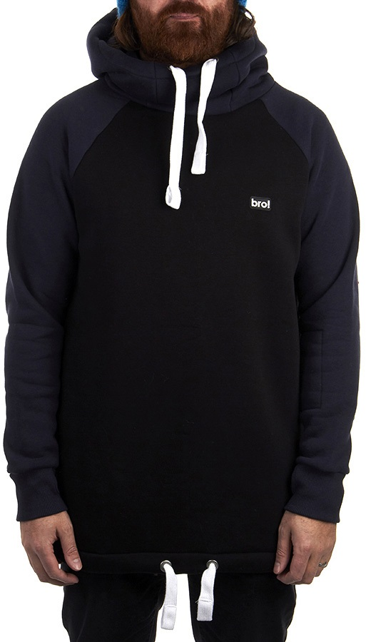bro! Chill N'shred Ski/Snowboard Hoodie, S Navy/Black