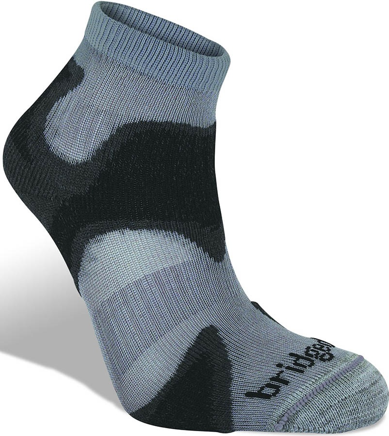 Bridgedale Trail Sport Ultra Light T2 Men's Running Socks, M Gunmetal