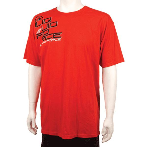 Liquid Force Sidebar T Shirt, Large, Red