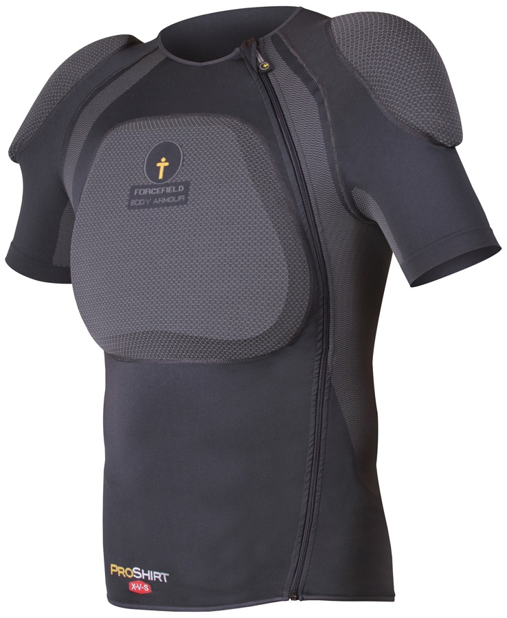 Forcefield Pro Shirt X-V-S Body Armour With Back Protector, L, Grey