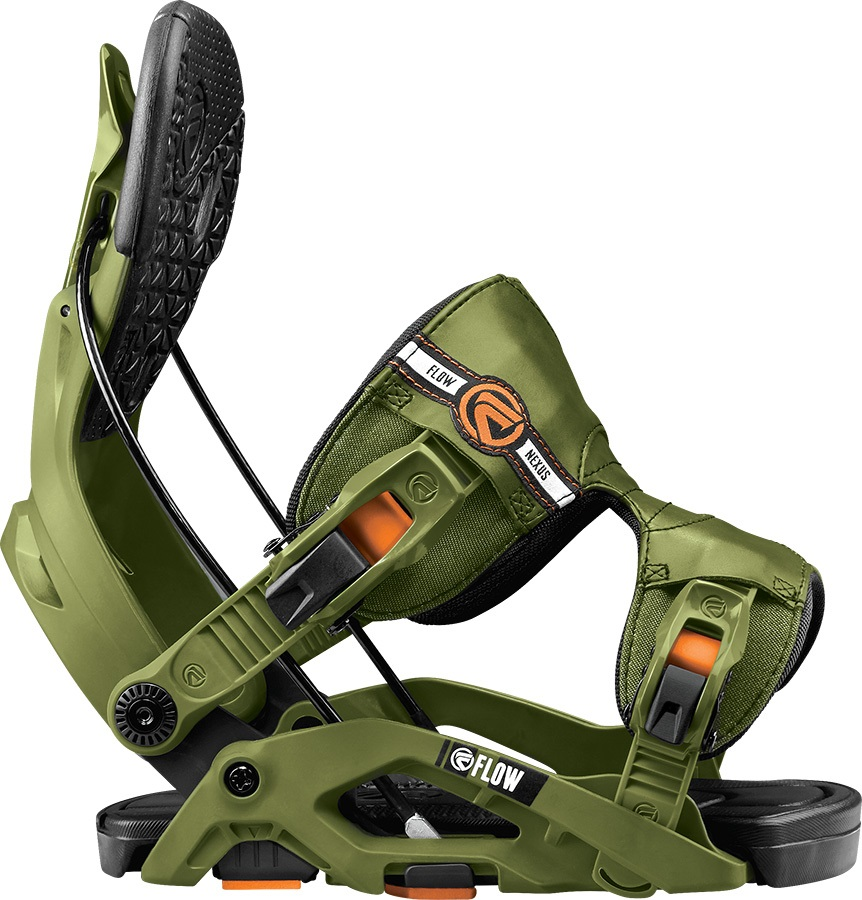Flow Nexus Step In Snowboard Bindings, M, Green, Fusion, 2017