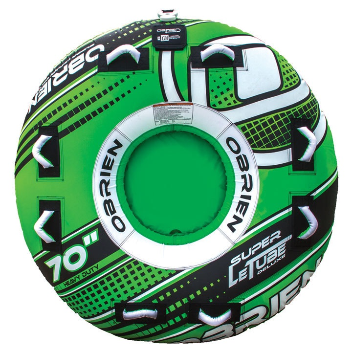 O'Brien Super Le Tube Deluxe Round Inflatable Tube 2 Rider Green