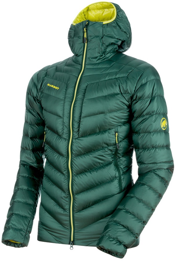 Mammut Broad Peak Insulated Hooded Climbing Jacket - S, Dark Teal