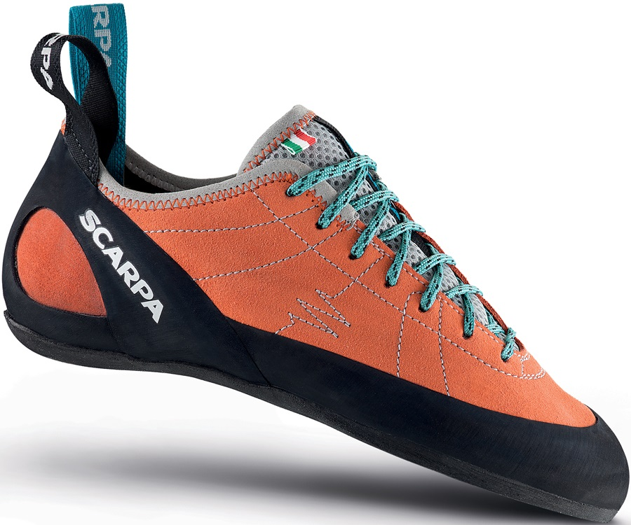 Scarpa Helix Women's Rock Climbing Shoe: UK 4+ | EU 37, Mandarin