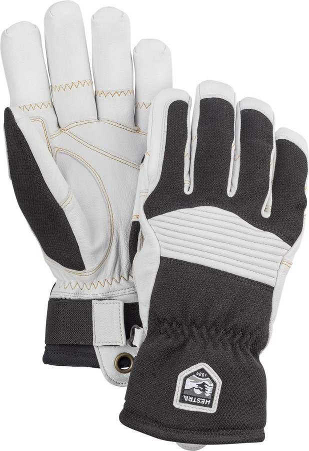 Hestra Army Leather Couloir Ski/Snowboard Gloves, M Black