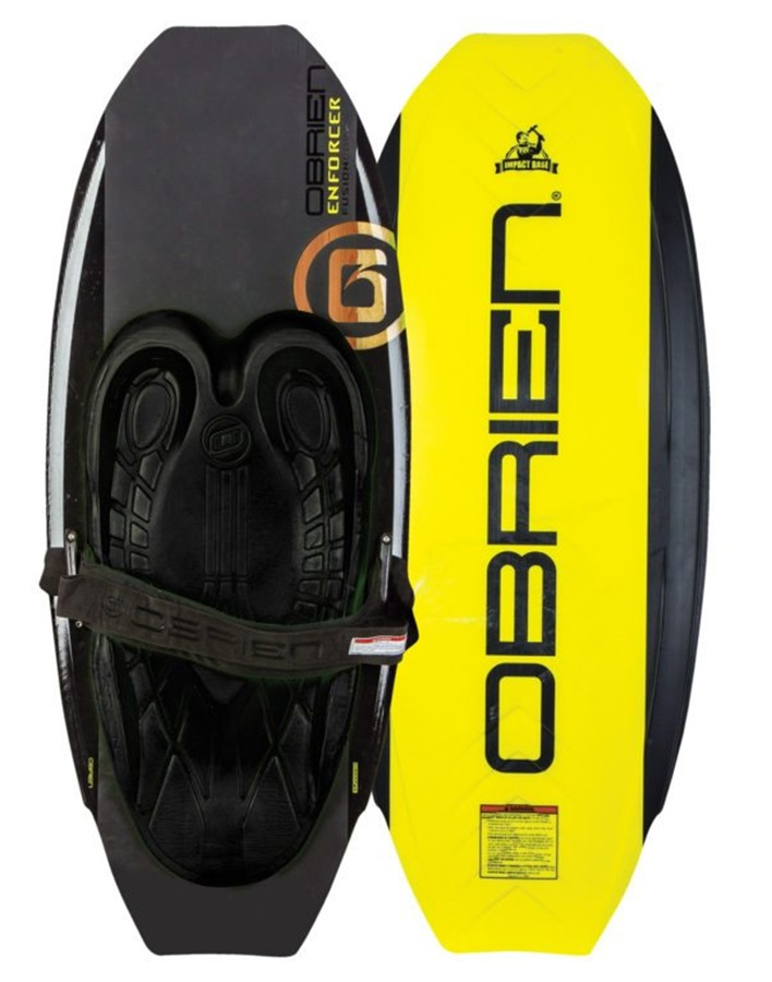 O'Brien Enforcer Park Series Kneeboard, Black Yellow 2018
