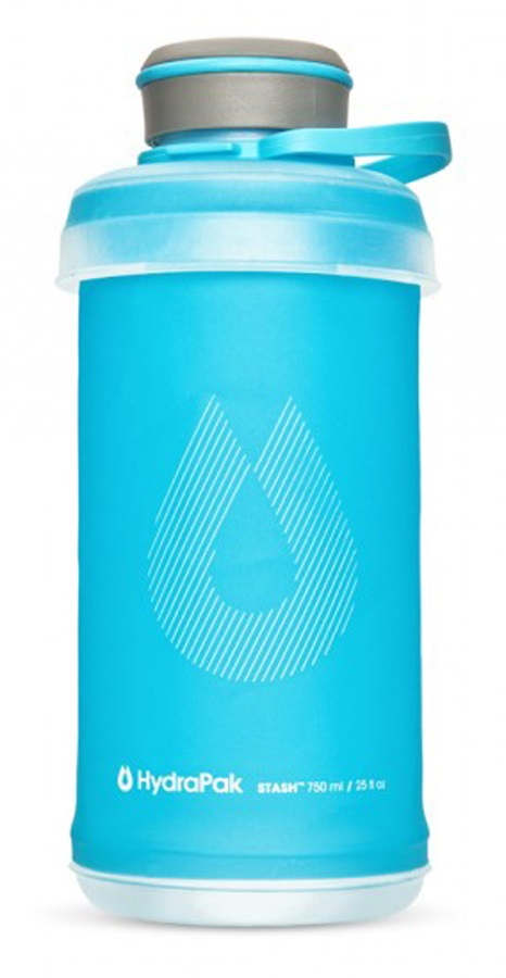 HydraPak Stash Bottle Collapsible Water Bottle, 750ml Malibu Blue