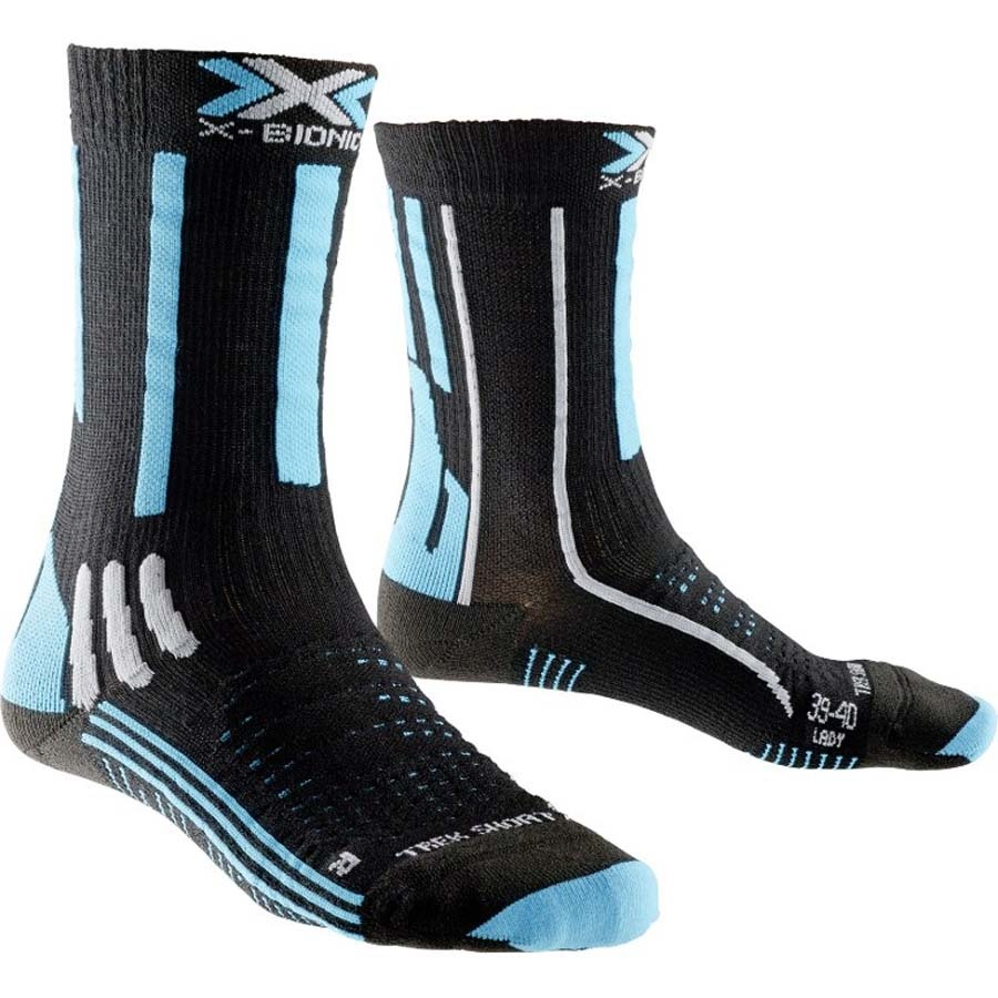 X-Bionic Effektor Trekking Short Women's Hiking/Walking Socks L Black