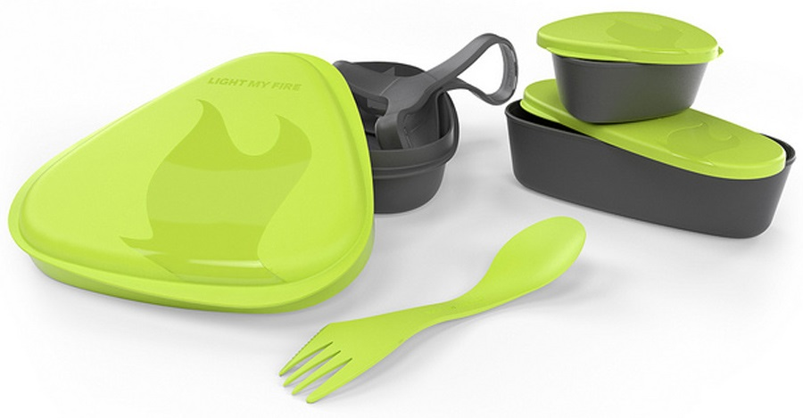Light My Fire Lunchkit Compact Travel Eating Set, Lime