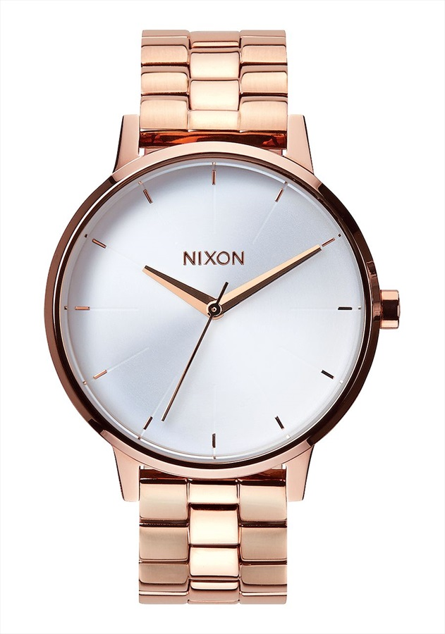 Nixon Kensington Women's Watch, One Size, Rose Gold/White