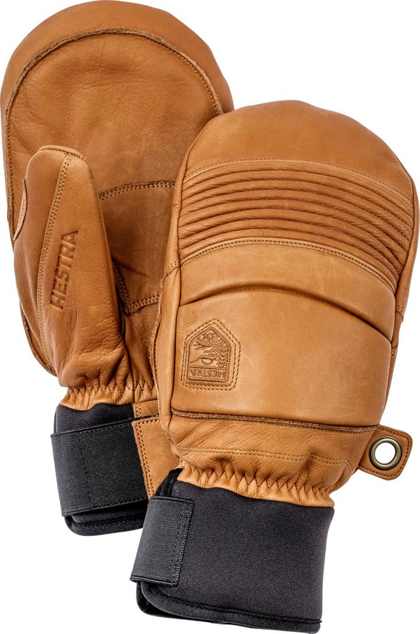 Hestra Leather Fall Line Ski/Snowboard Mitts, M Cork