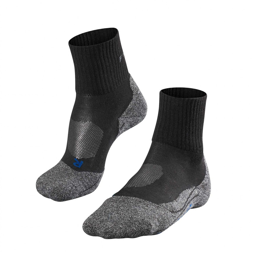 Falke TK2 Short Cool Men's Hiking/Walking Socks UK 11-12.5 Black-Mix