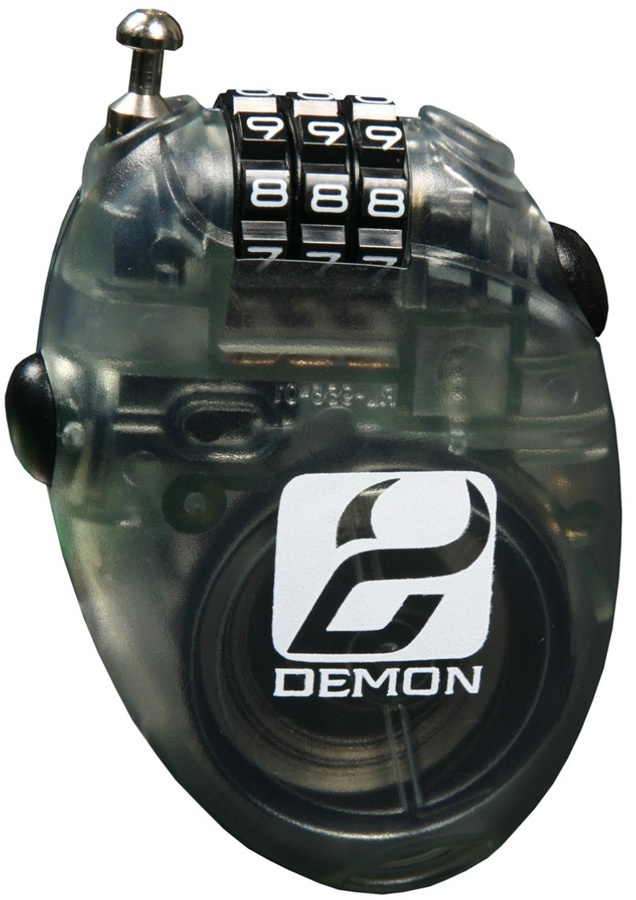 Demon Mini Snowboard Lock, Translucent Smoke