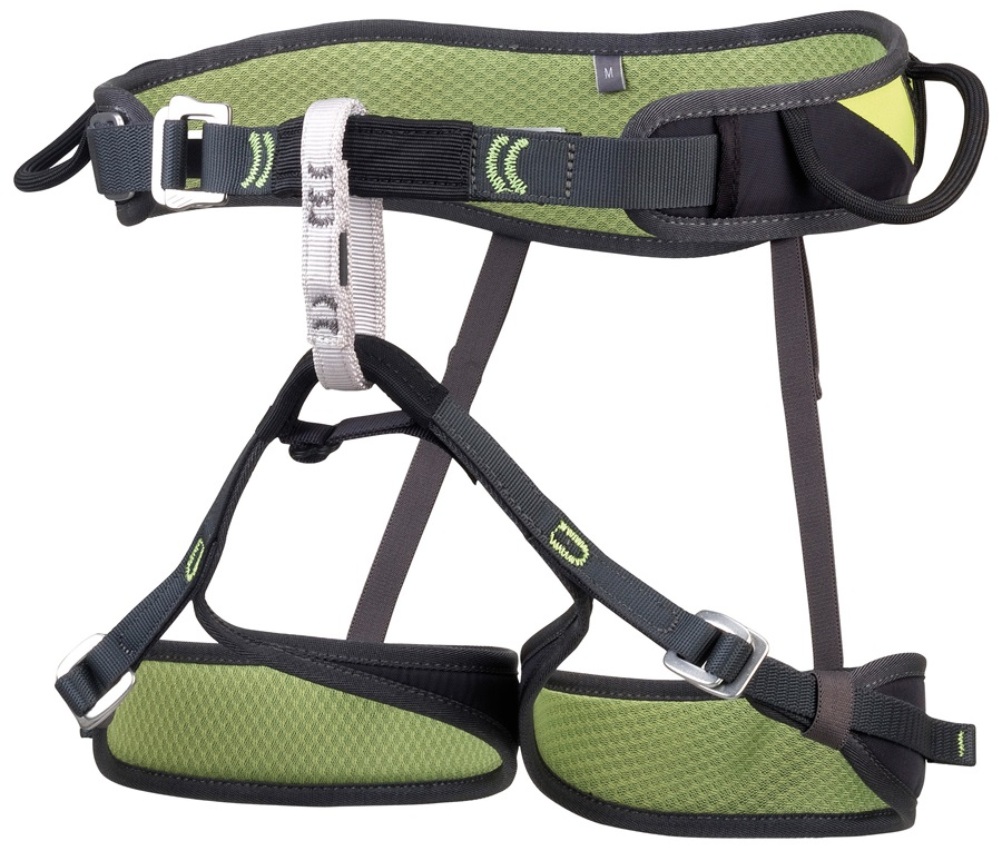 CAMP Jasper CR3 Light Rock Climbing Harness, S, Black/Green