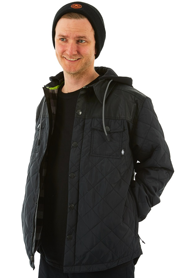 Saga Workwear Ski/Snowboard Insulated Jacket, M Quilted Black