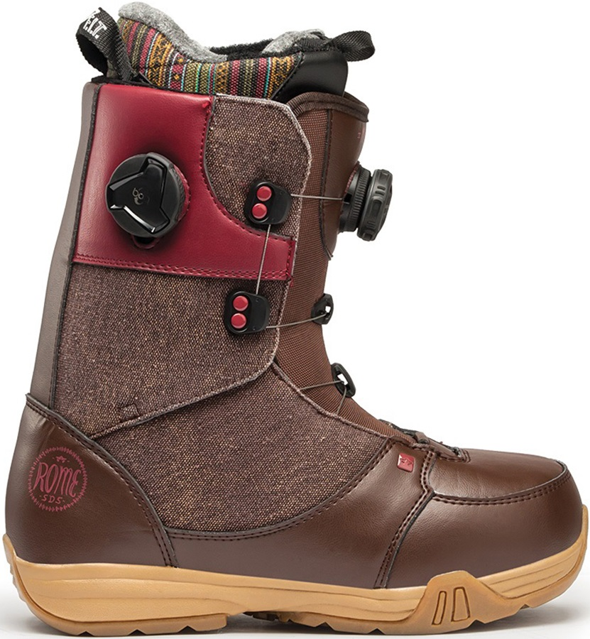 Rome Memphis Boa Women's Snowboard Boots UK 4.5 Brown 2016