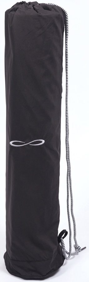 Carrot Banana Peach Organic Cotton Poplin Yoga Mat Carrier, Black