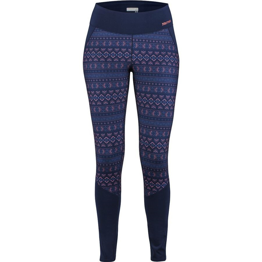 Marmot Womens Nicole Heavyweight Tight Baselayer Leggings, UK 12 Blue