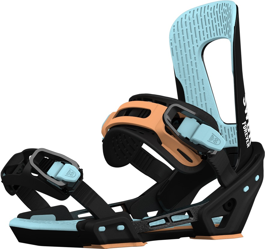 Switchback Forever Snowboard Binding, M-XL Black/Blue 2019