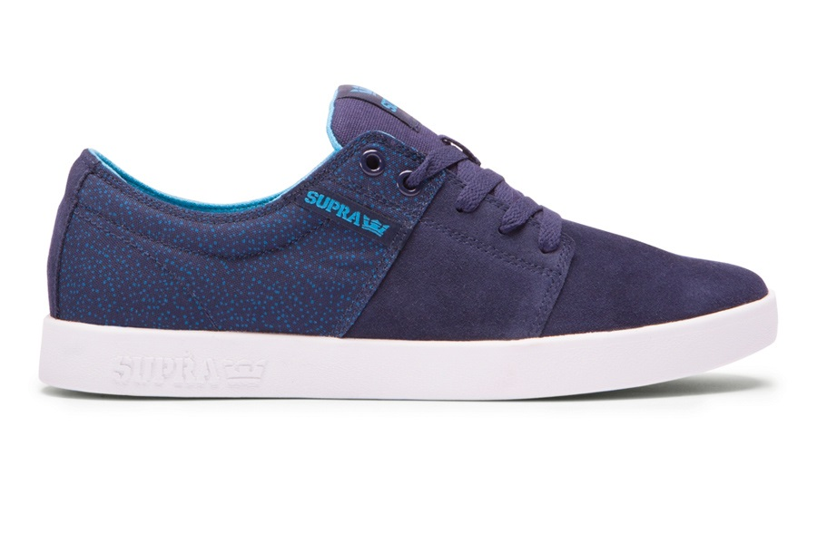 Supra Stacks 2 Skate Shoes UK 7 Navy/White