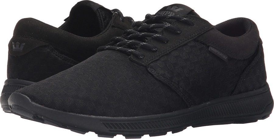 Supra Hammer Run Skate Shoes Uk 7 Black Black Black cbbb1ad7d7